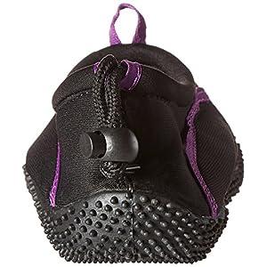 TECS Women's Aquasock Water Shoe, Purple/Black, 10 M US