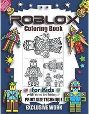 ROBLOX Coloring Book for Kids: with new technique: PRINT SIZE TECHNIQUE, Exclusive Work: 44 unique illustrations.