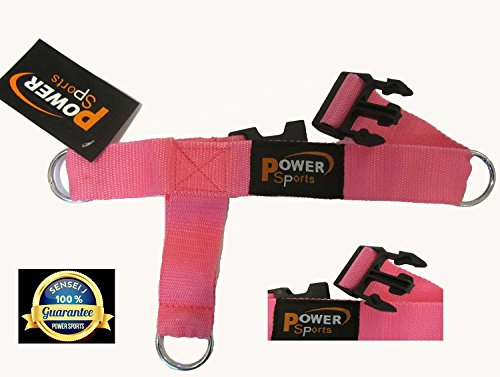 Top Gym PINK 3-D Ankle/Foot Strap 3 -Ring Cable Gym Machine Attachment For Women Yoga, Pilates, LEG/FOOT/ANKLE Training/Fitness Strap (Sold Single) by foot strap