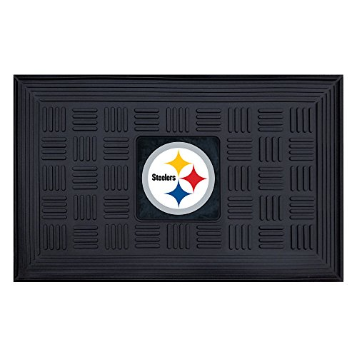 (FANMATS NFL Pittsburgh Steelers Vinyl Door Mat)