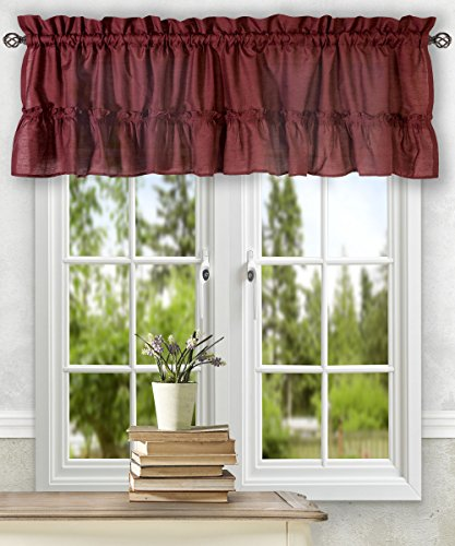 Ellis Curtain Stacey 54-by-13 Inch Ruffled Filler Valance (Ruffled Swag Valance)