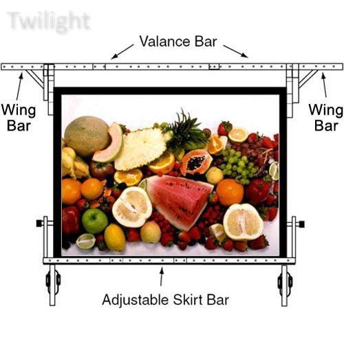 "Da-Lite Adjustable Skirt Bar for 63 x 84"" Fast-fold Portable Projection Screen"
