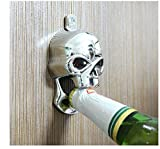 MYTANG Metal Harley Chrome Skull Wall Mounted Bottle Beer Opener