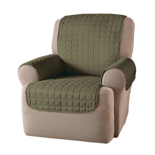 Innovative Textile Solutions Microfiber Wing Recliner Protector, Sage, 65
