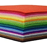 "Image of 42pcs Felt Fabric Sheet 4""x4"" Assorted Color DIY Craft Squares Nonwoven 1mm Thick"