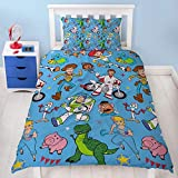 Toy Story 4 Single Duvet Cover Rescue Design   Reversible Two Sided Bedding Duvet Cover Featuring Woody & Buzz Lightyear With Matching Pillow Case