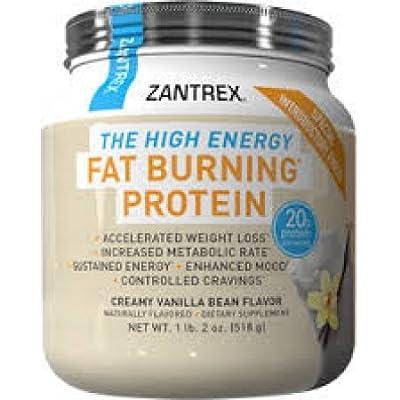 Zantrex The High Energy Fat Burning Protein, Creamy Vanilla Bean, 15.6 Oz (Pack of 2)