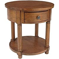 Broyhill Attic Heirlooms Round End Table in Oak