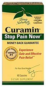 Terry Naturally Curamin Safe Effective Pain Relief with Clinically Studied BCM95 Curcumin 120 Caps