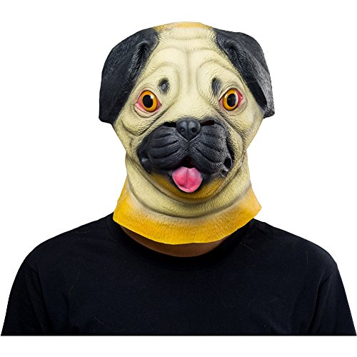 Halloween Animal Latex Masks Sharpei Dog Full Face Mask Adult Cosplay Props ()