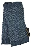 Simply Noelle Bumble Wrist Warmers with Buttons (Indigo)