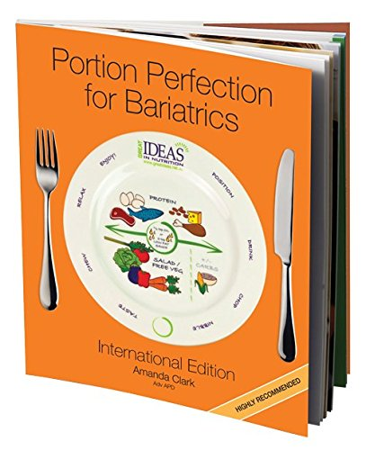 4 in 1 Portion Perfection Weight Loss Kit Plate Bowl Book and Meal Planner for a Healthier Diet Great after Bariatric Weight Loss Surgery to Manage and Lose Weight