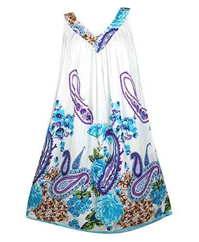 Plus Size Blue Paisley Floral Dress --Size: one size Color: Blue