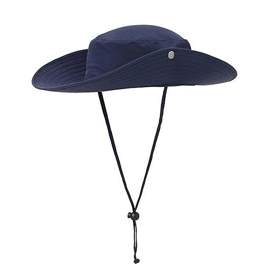 ISEYMI® Sombrero de Sol para Exterior Multifuncional Boonie Safari Sombrero  Amplio Brim Caps Sun Block 6c50a49df302