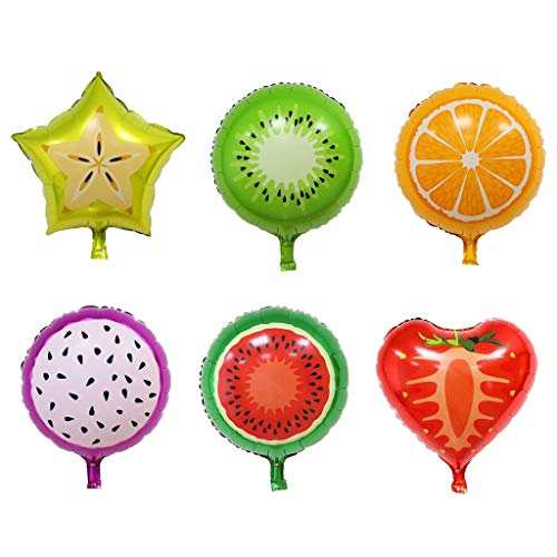 6pcs Fruit Foil Balloons Helium Mylar Foil Balloons Party Balloons for Wedding Birthday Party Supplies Home Decor Photo Props