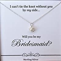 Gift for Bridesmaids from Bride – Will You Be My Bridesmaid - Tie the Knot Proposal Card – Box Set Ready to Gift