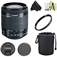 Canon EF-S 18-55mm f/3.5-5.6 IS STM Lens Pixi-Basic Accessory Kit