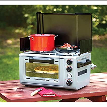 Coleman – Juego de 1800 W dos quemador de gas portátil estufa de Camping con horno