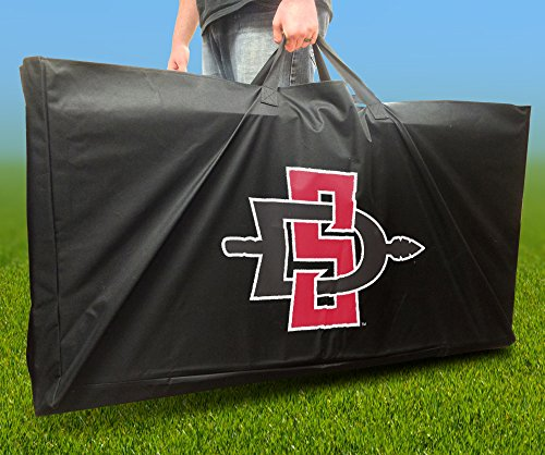 SAN DIEGO STATE AZTECS Officially Licensed CORNHOLE Board CARRYING CASE Storage Carry Bag