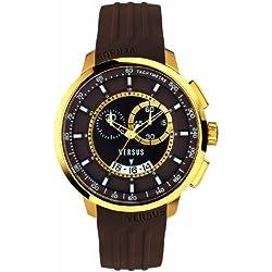 Versus by Versace Men's SGV120014 Manhattan Analog Display Quartz Brown Watch
