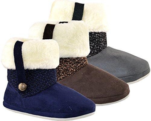 Coolers Mujeres Mocasines De Cuero Sintético Zapatos Azul