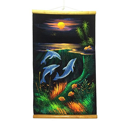 Hand Painted Dolphin - Hand-Painted