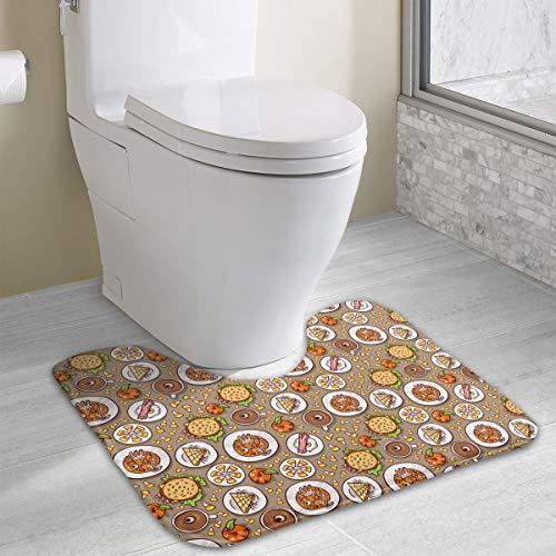 Halloween Meal Pattern Luxurious Bathroom Rugs Dry Fast Bath Rug Perfect For Toilet,Tub, Shower, Bath Room