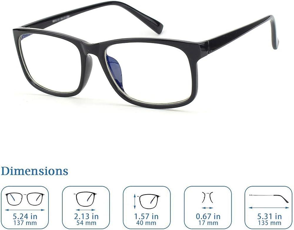 CGID CT12 Occhiali Luce Blu Occhiali per Blocco Luce Azzurra Occhiali di Sicurezza per Computer//Telefono,2 Pezzi Anti Riflesso Anti Affaticamento Bloccano il Mal di Testa e lo,2pezzi Stress Oculare