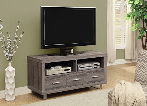 Monarch Reclaimed-Look TV Console with 3 Drawers