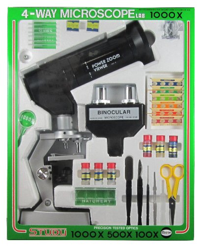MIZAR-TEC 顕微鏡 学習用 倍率100~1000倍ズーム セレクトズーム1000 実験セット付き 日本製 SETZOOM1000