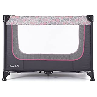Dream On Me, Zodiak Portable Playard, Grey/Pink