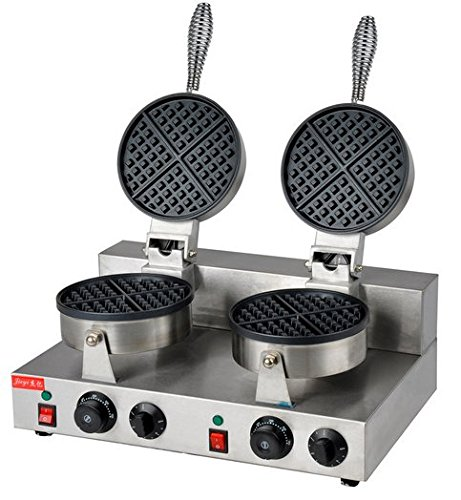 Hanchen Instrument FY-2 Double-head Electric Round Classic Belgium Belgian Waffle Baker Maker Machine Iron Mold 110V/220V by Hanchen