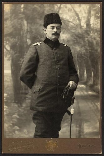 Photo: Tawfiq Canaan,1882-1964,doctor,author,medical researcher,ethnographer,in uniform