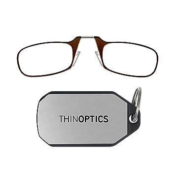 Amazon.com: Gafas de lectura con llavero ThinOPTICS, Marrón ...
