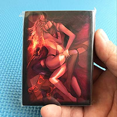 120 PCS/LOT Anime Girls Kissing Sleeves Liliana Cards Sleeve Card Cover for Trading Cards TCG Board Games Protective Sleeves: Toys & Games