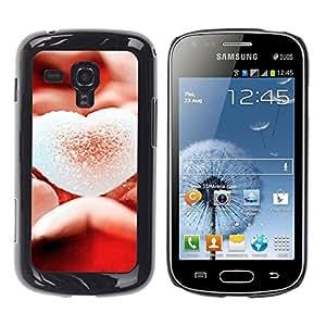 Paccase / SLIM PC / Aliminium Casa Carcasa Funda Case Cover - Love Sugary Heart - Samsung Galaxy S Duos S7562