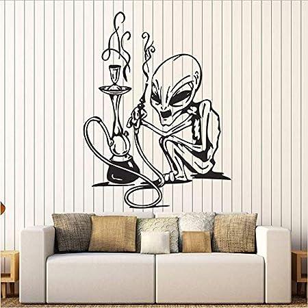 Adhesivos de pared con adhesivo de vinilo, cachimba, decoración para fumar tienda de bar de narguile, papel de pared desmontable, logotipo de decoración 42x52 cm