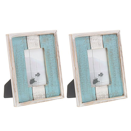 Barnyard Designs Rustic Distressed Picture Frame, 4