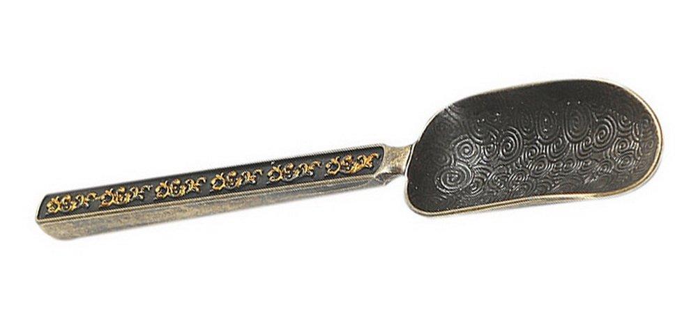 Tea Accessories Tea Spoon Tea Ceremony Flower-patterned Bronze Section Tea Scoop