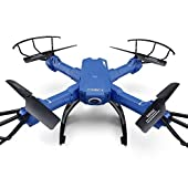 SZJJX RC Drone with Camera 2.4GHz FPV VR WiFi Quadcopter 6-Axis Gyro 4CH Remote Control Helicopter with 2MP 720P HD Camera Wide Angle Lens Time Transmission RTF SJ38