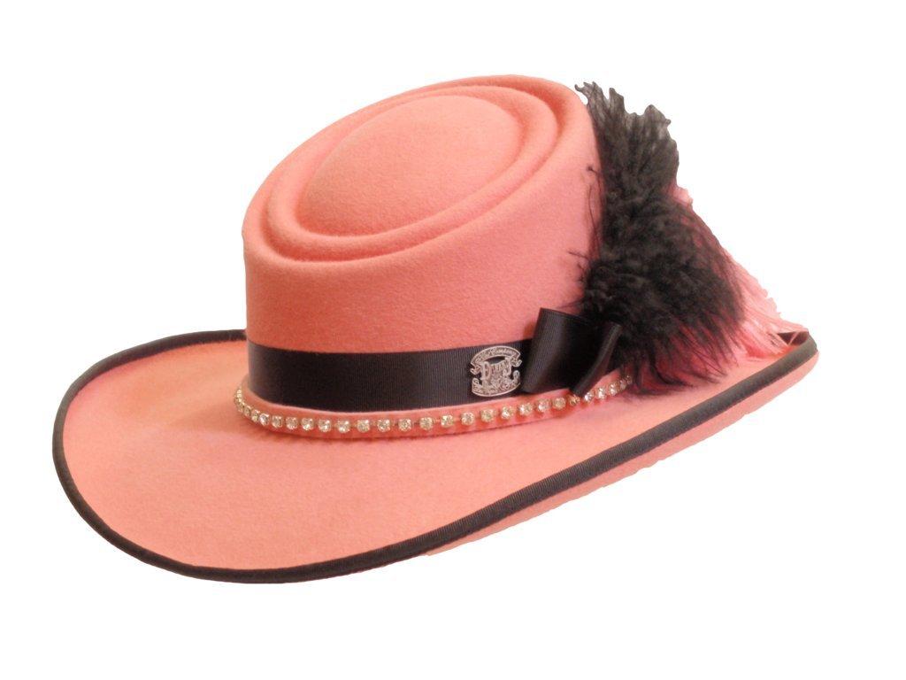 D Bar J Hat Brand, Female, Double Tilt Front, Size 7, Pink