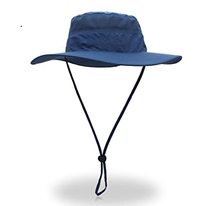 the best attitude 79905 2f9e1 Image Unavailable. Image not available for. Color  Zgllywr Men Wide Brim Sun  Hat Waterproof Quick-Dry Outdoor Protection Bucket Fishing Camping Cap