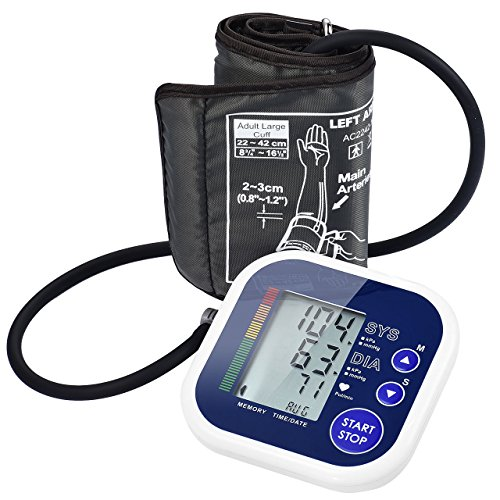 Arm Blood Pressure Monitor,Patec Automatic Upper Abnormal Blood Pressure & Irregular Heartbeat Detector with Wide-Range Cuff,Accurate & Portable, For Home Use.