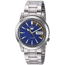 Seiko Men's SNKK27 Seiko 5 Automatic Blue Dial Stainless-Steel Bracelet Watch