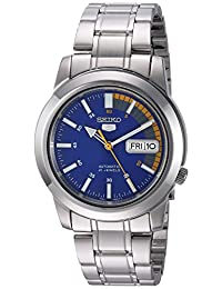Seiko Men's SNKK27 Seiko 5 Automatic Blue Dial Stainless-Steel Bracelet Watch