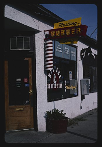 2004 Mustang Pictures - Vintography 16 x 24 Photo of Mustang Barber Shop, Billings, Montana 2004 Ready to Frame 67a