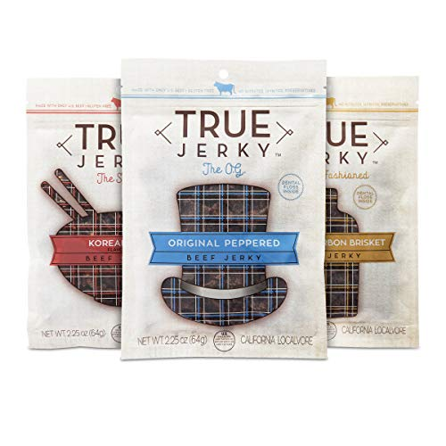 True Jerky Bundle Variety Pack - Original, Korean BBQ, Honey Bourbon