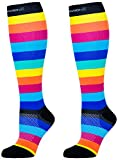 Compression Socks (Rainbow Stripes M/ 20-30mmHg) Men - Best Reviews Guide