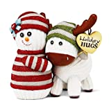 The Socking's by Pavilion Holiday Hugs Gift, Snowman Hugging Moose, 4-Inch by The Sockings