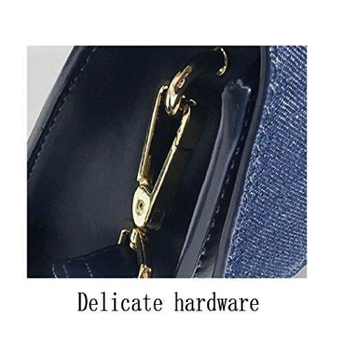 à Sac Sac à Blue Petit main Messenger sac capacité Boucle bandoulière métallique Portable Grande 1dZwqHd